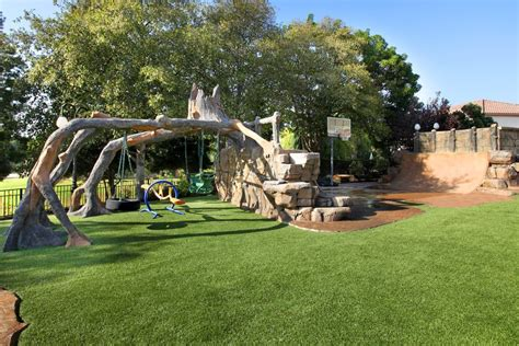 kids play area landscape contemporary with trees outdoor