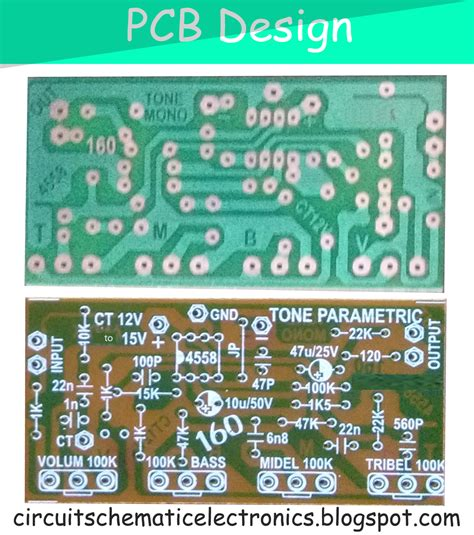 Kit Rangkaian Crossover 3 Way Bass parametric tone ic4558 and pcb electronic circuit