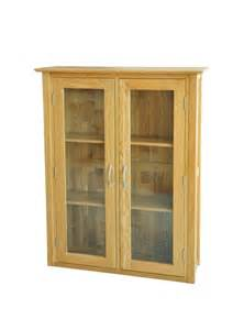 Small Oak Display Cabinet Columbus Solid Oak Furniture Small Glazed Dresser Display
