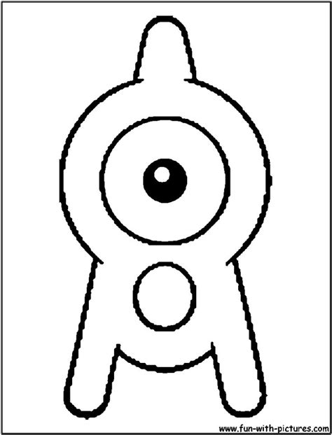 unown pokemon coloring pages pokemon unown a coloring page alphabet a pinterest