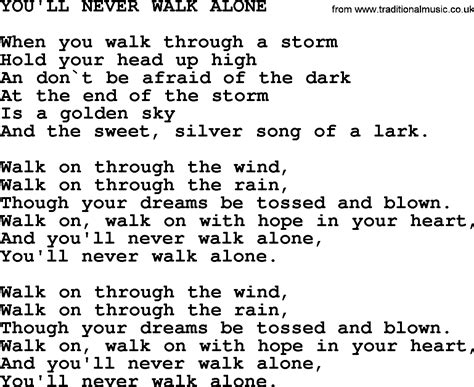 johnny song you ll never walk alone lyrics