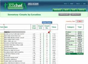 ezchef software inventory management menu costing and