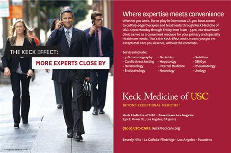 Usc Mba Easier To Get In by New Marketing Effort Shows How Keck Effect Benefits