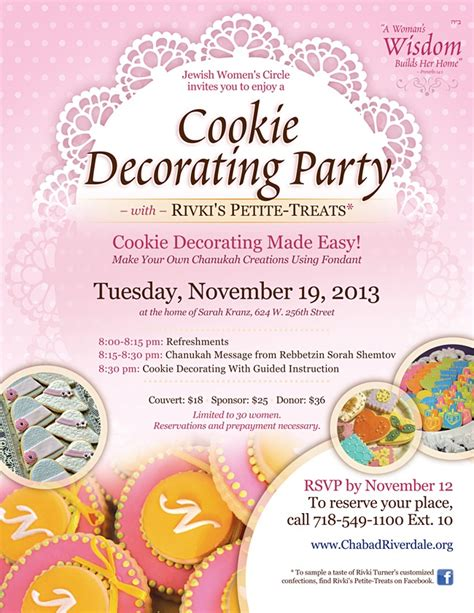 Cookie Decorating Party Chabad Lubavitch Of Riverdale Cookie Flyer Template Free