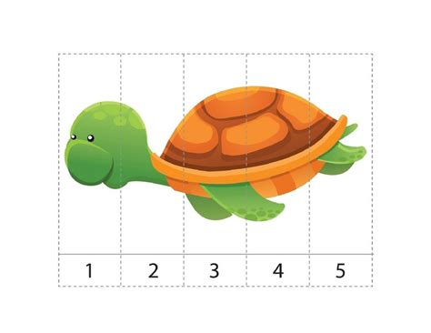 printable turtle puzzle ocean animals math activities sequence puzzle turtle