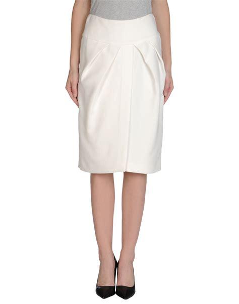 giambattista valli knee length skirt in white lyst