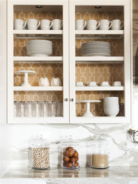 wallpaper on kitchen cabinets phillip jeffries moroccan wallpaper transitional