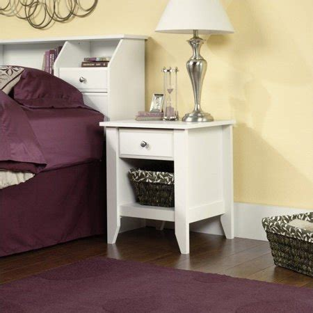 Sauder Shoal Creek Nightstand by Sauder Shoal Creek Nightstand In Soft White Walmart Canada