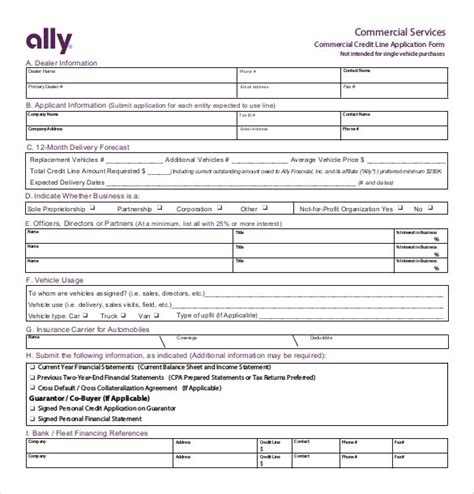 Ally Credit Application Form Pdf Credit Application Template 32 Exles In Pdf Word Free Premium Templates