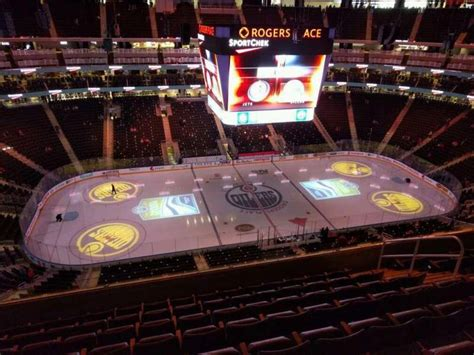 rogers place section  home  edmonton oilers
