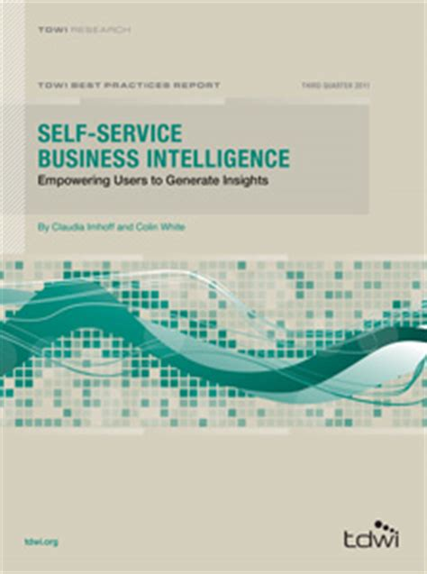 business intelligence research paper tdwi best practices report self service business