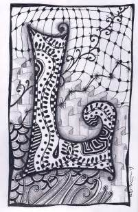 zentangle letter l zebra letters name bunting by