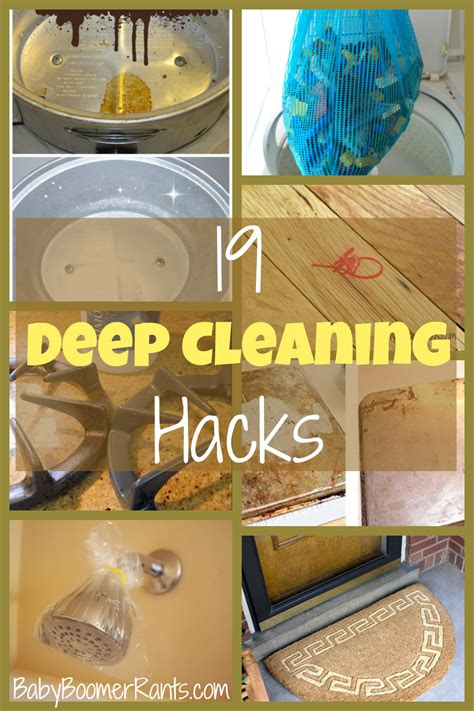 deep cleaning 19 household deep cleaning hacks