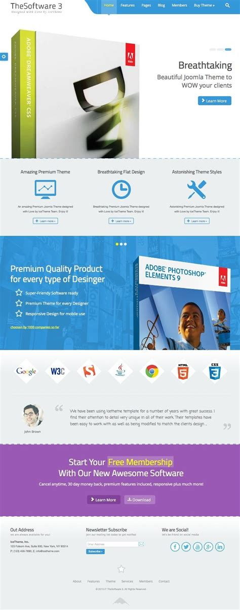 template joomla x2 it thesoftware 3 joomla template for selling software products