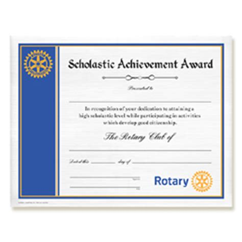 rotary certificates russell hampton co rotary club