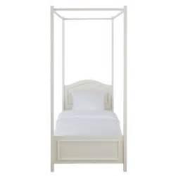 letto baldacchino legno letto bianco a baldacchino in legno 90 x 190 cm manosque