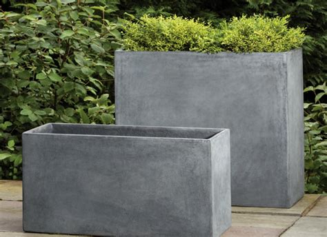 Ideas Design For Cement Planters Concept Diy Concrete Rectangular Planter The Homy Design