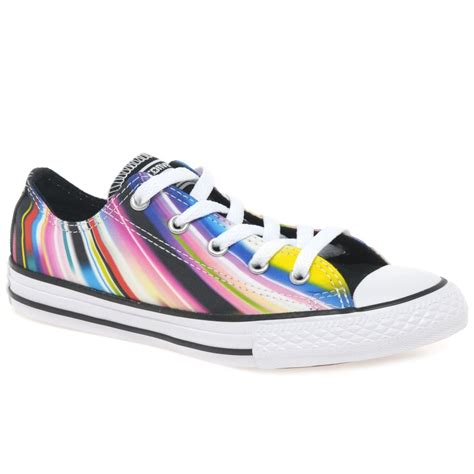 oxfords shoes for juniors converse fireflies oxford multi coloured plimsolls