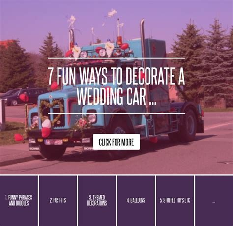 7 Fun Ways to Decorate a Wedding Car   Wedding