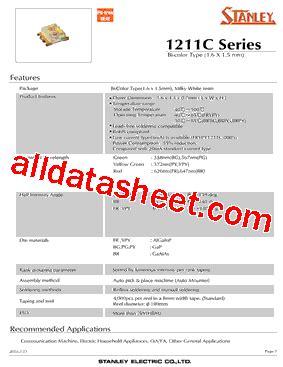pdt stanley brpg1211c tr datasheet pdf stanley electric co ltd