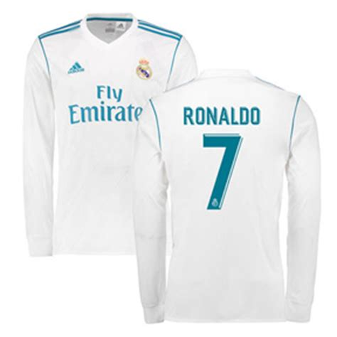 Jersey Grade Ls Madrid Home 17 18 Official adidas real madrid cristiano ronaldo 7 ls jersey home 17 18 soccerevolution