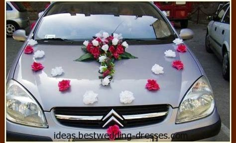 simple wedding car decoration