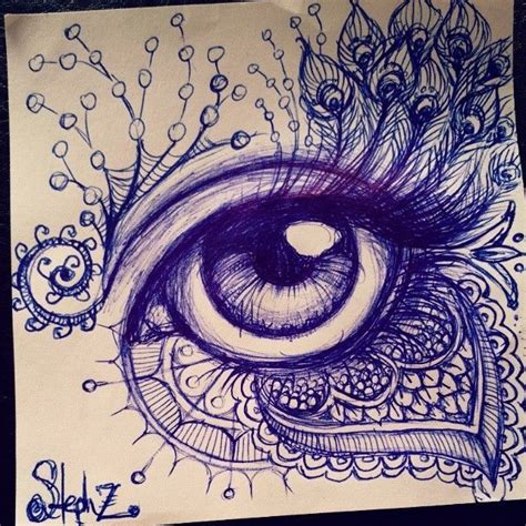 doodle eye ballpoint pen eye drawing for your viewing pleasure