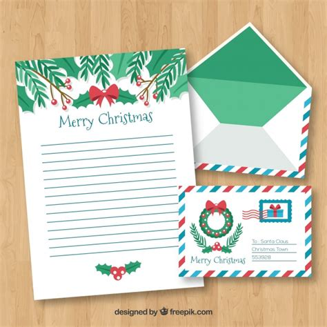 merry christmas letter template vector