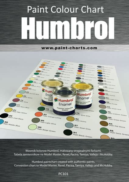 paint colour chart humbrol 12mm pjb pc101