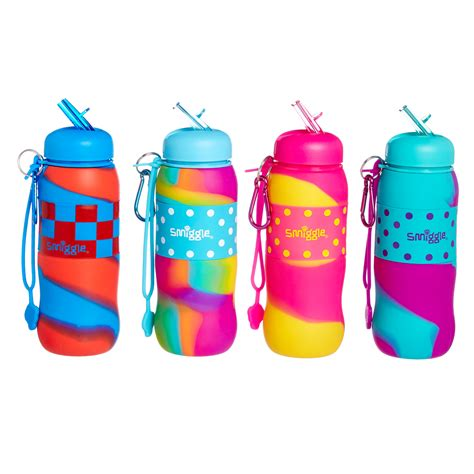 Smiggle Blended Silicone Roll Bottle 2tone silicone roll bottle smiggle children packag