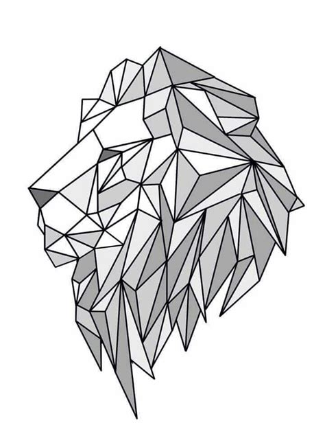 geometric pattern sketch lion geometric create by june pur another pinterest