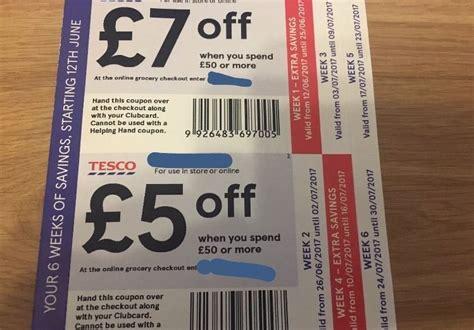 printable coupons uk tesco tesco coupons money off vouchers 163 10 53 picclick uk