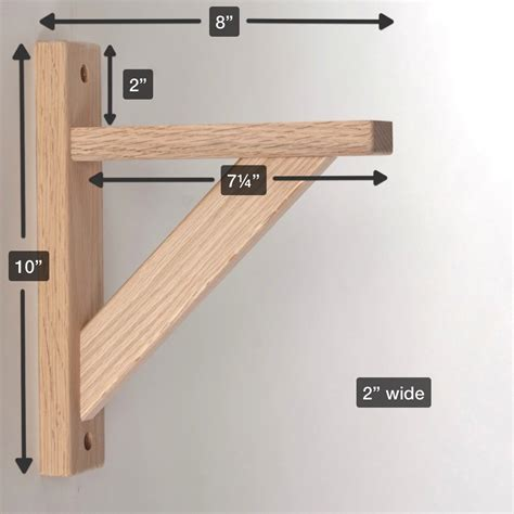 Bookcase Shelf Hardware by Wood Shelf Bracket Oak 8 Hardware Workshops Shelf
