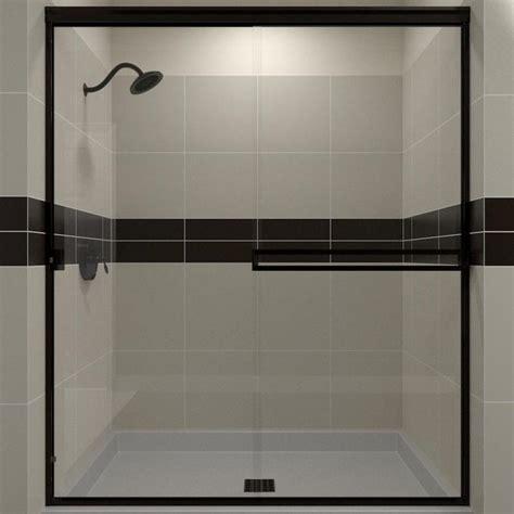 shower door rubbed bronze shop arizona shower door traditional 49 125 in to 51 in