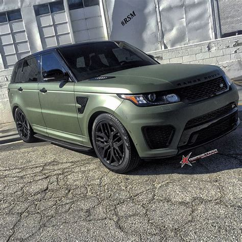 army green range rover matte army green is the new matte black range rover sport