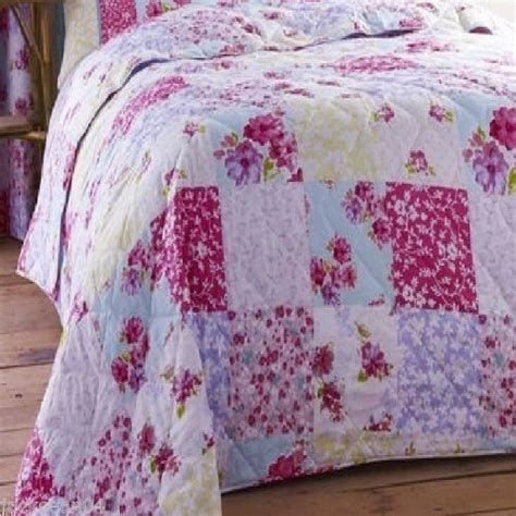 Patchwork Throws Uk - superb quality shabby pink chic cotton floral patchwork