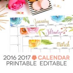 Digital Calendar Template by 2017 Calendar Printable Editable Digital By Perennialplanner