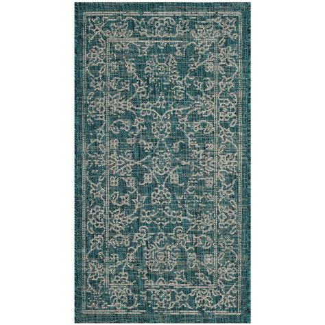 Outdoor Rug Turquoise Safavieh Courtyard Turquoise 2 Ft X 3 Ft 7 In Indoor Outdoor Area Rug Cy8680 37221 2 The