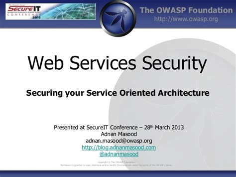 web services security securing your service oriented