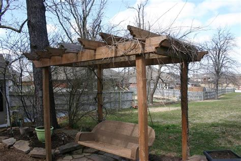 swing with pergola swing pergola tutorial beckwith s treasures