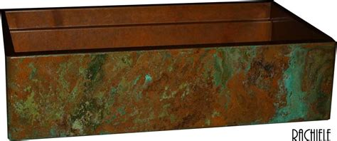 how to patina copper sink copper farmhouse sinks crafted in the usa