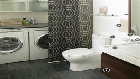 Laundry Room In Bathroom Ideas by Shower Curtain Designs Ideas Small Bathroom Laundry Room