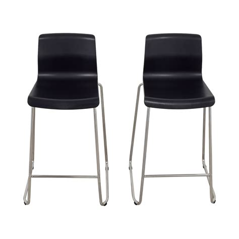 47 off ikea ikea black and metal bar stools chairs