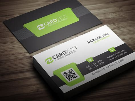 Free Business Card Template With Qr Code by Business Card Design Exles 1