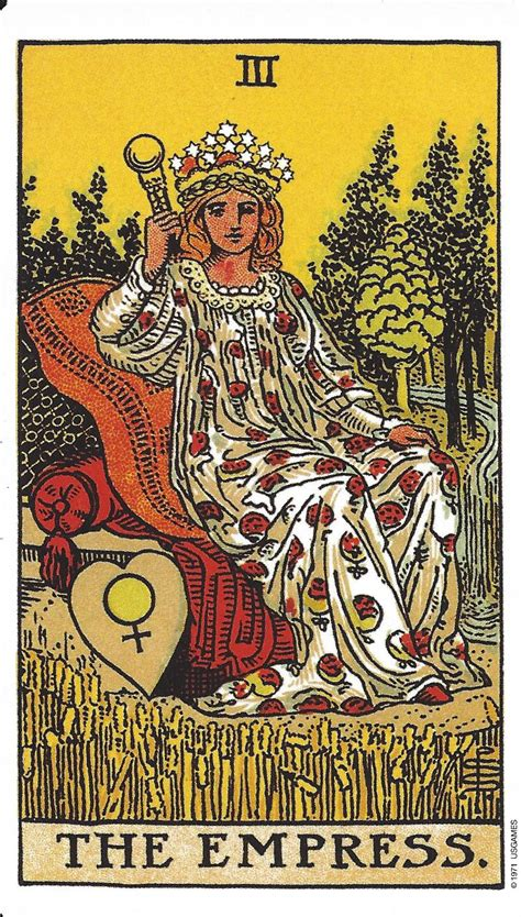 The Will Of The Empress the empress tarot card www pixshark images