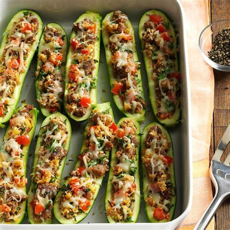 easy sausage stuffed zucchini boats 25 healthy zucchini recipes you need to make this summer