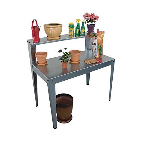 metal potting bench poly tex galvanized steel potting bench model hg2000