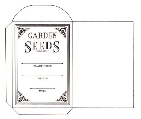 printable seed packet template seed saving envelope to print content in a cottage