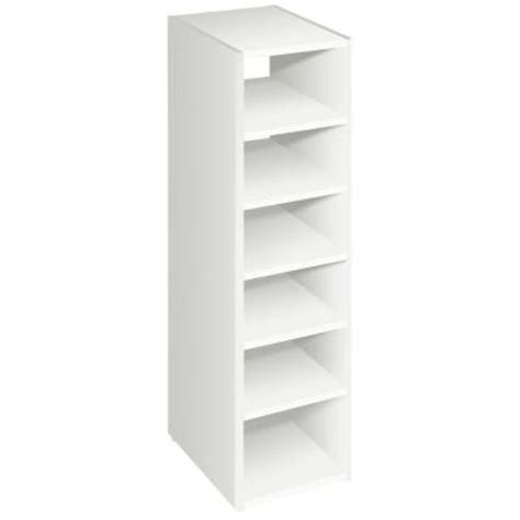 Stackable Closet Shelves by Closetmaid Selectives 41 1 2 In White Stackable 7 Shelf