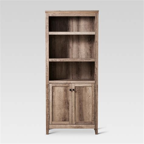 carson 5 shelf bookcase bookcase threshold carson 5 shelf bookcase with doors